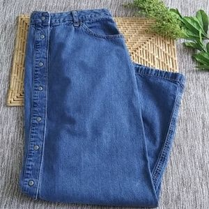 Vintage GAP Denim Snap Front Maxi Skirt